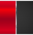 background polished red metal and black mesh vector image vector image