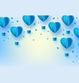 background template papercut air balloon vector image vector image
