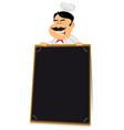 blackboard restaurant sign vector image vector image