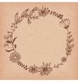 blank flower frame vector image