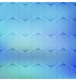 Blue sea geometric pattern on blurred background vector image