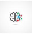 brain icon on white vector image