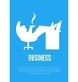 Business banner with businessman silhouette vector image