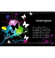 business card black vector image