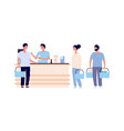 buyers at checkout people crowd queue vector image vector image