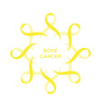 cancer ribbon yellow color vector image