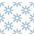 christmas knitted pattern with blue snowflakes vector image