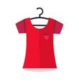 clothing blouse hanging on wardrobe dress hanger vector image