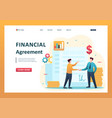 concept creating a financial agreement partners vector image