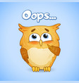 constraining owl lovely character vector image vector image