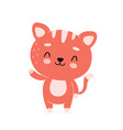 cute happy smiling cat character vector image