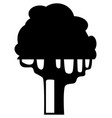 dark single silhouette shape a floral tree for vector image vector image