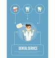 Dental service banner with male dentist vector image vector image