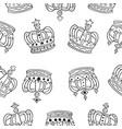 doodle crown sketch hand draw vector image vector image
