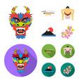dragon mask katano a man is a sumo player a vector image vector image