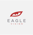 eye and eagle vision logo icon template vector image vector image