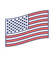 Flag united states of america flat design to side