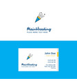 flat celebration pop logo and visiting card vector image