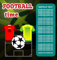 Football Soccer computer game vector image vector image