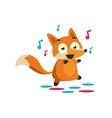 Fox On The Dancefloor vector image vector image