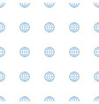 globe icon pattern seamless white background vector image vector image