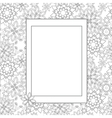 Hand drawn zentangle floral doodles with frame vector image