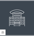 hotel related line icon vector image