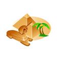 icon pyramid vector image vector image