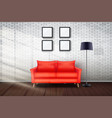 interior living room and loft vector image vector image