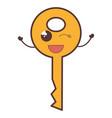 key door kawaii character vector image vector image