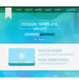 Landing page web vector image vector image