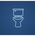 Lavatory bowl line icon vector image