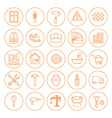 Line Circle Building and Construction Icons Set vector image vector image