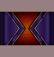 luxurious purple and orange background vector image vector image