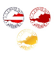made in Austria stamp vector image
