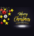 merry christmas on black ba vector image