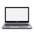 Modern laptop computer with blank screen vector image vector image