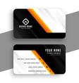 modern orange business professional design vector image vector image