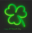 neon clover leaf with a gradient vector image