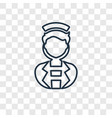 nurse concept linear icon isolated on transparent vector image vector image