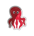 Octopus sea animal vector image vector image
