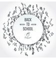 Outline School banner vector image