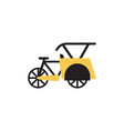 pedicab transportation icon design template vector image