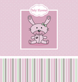 Post Stuffed rabbit vector image vector image