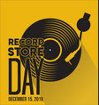 record store day retro vintage template 2 vector image vector image