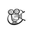 Retro cinema logo vector image vector image