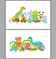 robot and frog collection vector image vector image