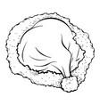 santa hat coloring book vector image vector image