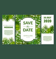 save date elegant wedding invitation vector image vector image