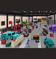 scenes in an auto repair shop vector image